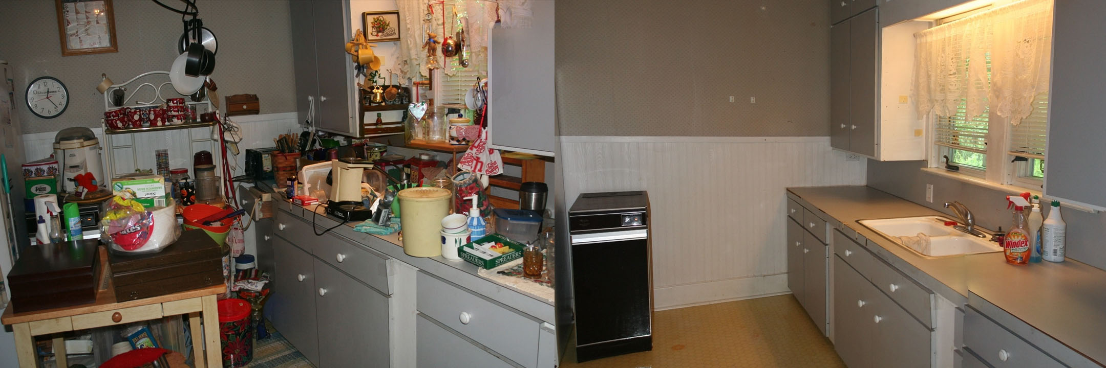 before and after of a kitchen in Kokomo IN